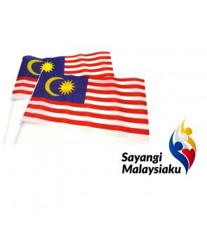 [Ready Stock] (10pcs) Bendera Malaysia Hand Held Flag Malaysia 21x14cm Small Stationery