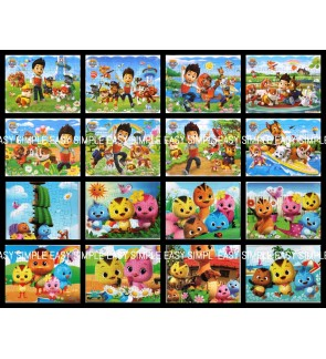 [Ready Stock] (1 Piece) A4 Size Paw Patrol Little Chicken Kids Paper Puzzle Cute Jigsaw Gift Education Holiday