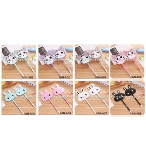 [Ready Stock] Kawaii Cute Fan Style Design Ballpoint Pen Gift Stationery Office
