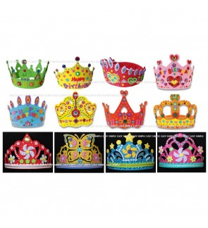 [Ready Stock] 3D EVA Handmade Crown Craft Gifts Kits Birthday Educational DIY