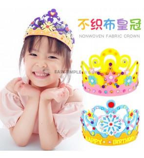 [Ready Stock] (1 set) Kid 3D Non Woven Fabric Handmade Crown Craft Gifts Kits Birthday Educational DIY Art Princess