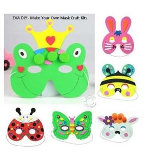 [Ready Stock] EVA Mask DIY Children Kid Fun Art Crafts Kits Education Learning