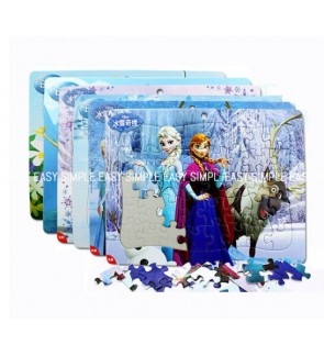 [Ready Stock] 1 Piece A4 Disney Frozen Sister Kids Paper Puzzle Jigsaw Girls Birthday Gift Education