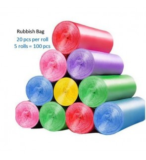[Ready Stock] 45cm *50cm Rubbish Dustbin Trash Plastic Bag /Garbage bag Hand-Tie