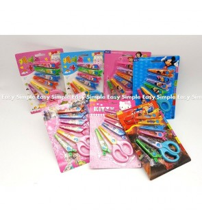 [Ready Stock]Lace DIY Scissors Paper Safety Craft Scissors 6 Styles Stationery