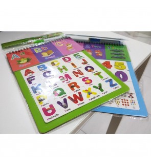 [Ready Stock]Fun Educational Puzzle Whiteboard With Marker Pen Alphabets Numbers