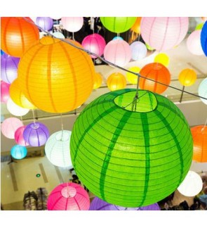 [Ready Stock]15cm Beautiful DIY Paper Lantern Home Decor Party Wedding Bamboo