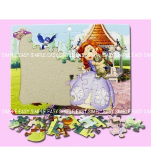 [Ready Stock] (1 Piece) A4 Disney Sofia Kids Paper Puzzle Cute Jigsaw Puzzle Birthday Gift Girl