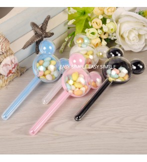 [Ready Stock] Mickey Head Transparent Plastic Acrylic Fillable Ball Candy Gift