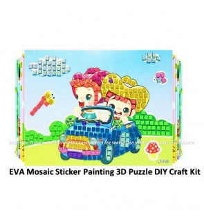 [Ready Stock] EVA Mosaic Sticker Painting 3D Puzzle DIY Craft Kit Gift Education