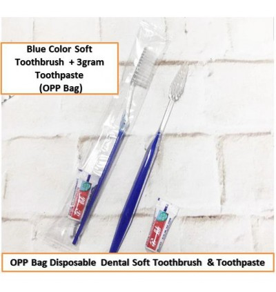 [Ready Stock] Hotel Personal Travel Disposable Dental Toothbrush Individual Kit