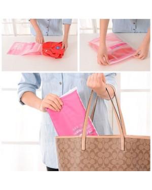 [Ready Stock] Travel Space Saver Bags Storage Waterproof Plastic Ziplock Bag