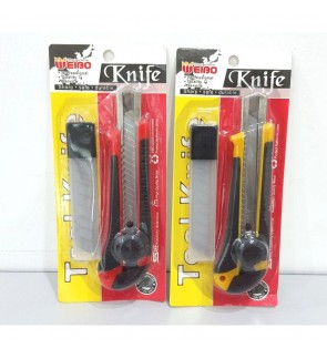 [Ready Stock] 18mm Art Craft Workplace Utility Cutter Knife Large Plastics Set
