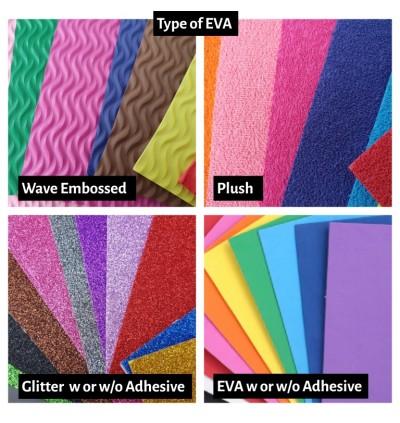 [Ready Stock] A4 10pcs/pack 2mm (Random Color) Glitter Shiny EVA Sponge Art Craft Foam Sheet School Cutting Stencil Paper