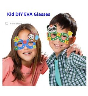 [Ready Stock] (1 Pack)  Kid DIY Craft Kits - Make Your Own Glasses EVA Creative 3D Animal Eyeglasses Diamond Sparking