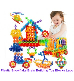 [Ready Stock] Plastic Snowflake Brain Building Toy Blocks Lego Puzzles Education