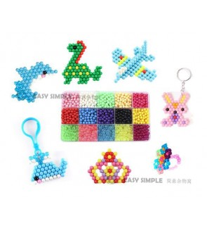 [Ready Stock] 15 Colors aquabeads Crystal DIY Water Spray Magic Hand Making 3D Puzzle Educational Toys