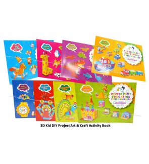 [Ready Stock]English Version 3D Kid DIY Project Art Craft Activity Book Paper
