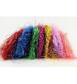 [Ready Stock] Metalic Shredded Paper Foil Tinsel Crinkle Cut Filler Angel Hair