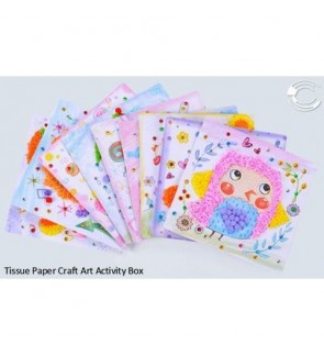 [Ready Stock] DIY-Tissue Paper Craft Art Activity Kits Box Stationery (揉纸美术画)