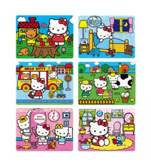 [Ready Stock] (1 Piece) A4 Size Hello Kitty Kids Paper Puzzle Cute Jigsaw Girl Birthday Gift Holiday Fun Education