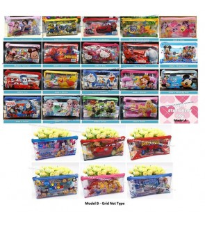 [Ready Stock] 6pcs/bag Kid Cartoon School Stationery Supplies Set Birthday Gift