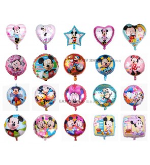 [Ready Stock] (1 Piece) 18 Inch Mickey Minnie Tsum Tsum Theme Foil Balloon Birthday Celebration