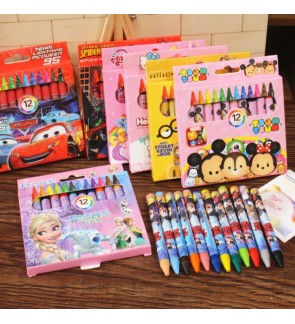 [Ready Stock] 12pcs Crayon Stationery Set Birthday Party Door Gift Party Color