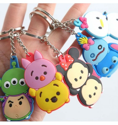 [Ready Stock] 10pcs Mini PVC Key Chain Tsum Tsum Mickey Gift Kid Bag Ring 6cm
