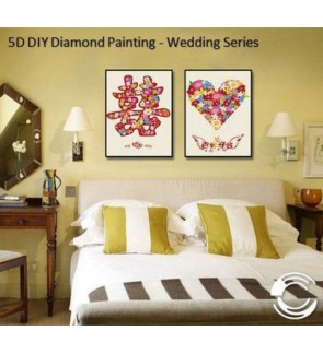 [Ready Stock] Home Decoration 5D Diamond Painting Decor - Wedding Series