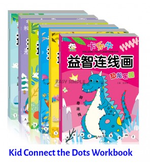 [Ready Stock] [1 Set-6Books) Kid Connect The Dots Puzzle Coloring Book Activity Early Learning Preschool Number Alphabet