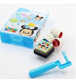 [Ready Stock] Small Handle Wheel Seal Roller Stamp Kid Stationery Gift Ink Pad