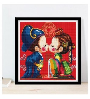 [Ready Stock] Korea Traditional Wedding 5D Diamond Painting DIY Room Decoration