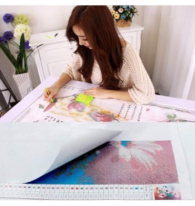 [Ready Stock] [40x40cm][Full Area Pasting] Korea Traditional Wedding 5D Diamond Painting DIY Room Decoration (No Frame)