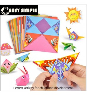 [Ready Stock] (1 Pack) Fun with Paper Folding and Colorful Vivid Origami for Kids Easy Activity Beginner Kit DIY