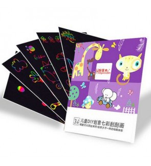 [Ready Stock]Magical Rainbow Scratch Art Drawing Paper Activity Kits 50pcs/set