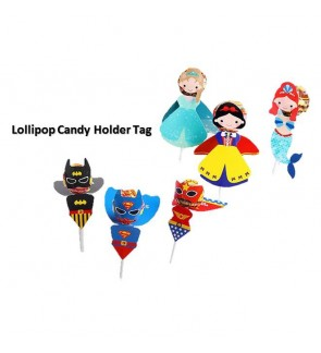 [Ready Stock] Lollipop Holder Tag Lolly Pop Candy Decor Card Party Favors