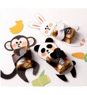 [Ready Stock]Candy Door Party Favor Return Gifts Printed Animals Hug Individual