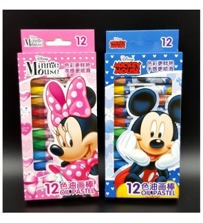 [Ready Stock] 12pcs/box Disney Drawing Crayon Kid DIY Craft Kindergarden Gift