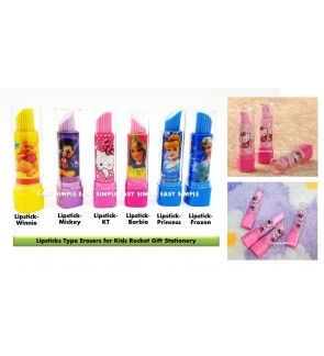 [Ready Stock] Lipstick Type Eraser Kid Rocket Gift School Stationery