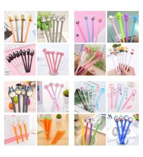 [Ready Stock] (Random 1 Piece) School Office Stationery Gift Party Cute Kid Pink 3D BallPoint Gel Pen