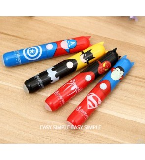 Super Hero Batman Spiderman Superman Captain America Gel Ball Point Pen Boy Gift