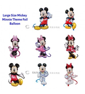 [Ready Stock] (1 Piece) New Large Size Mickey Minnie Baby Birthday Fullmoon New Born Foil Balloon