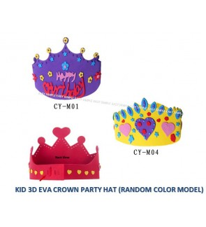 Kid 3D DIY EVA Handmade Crown Craft Kits Birthday Party Accessories Education