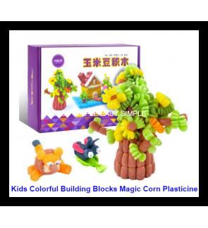 300pcs Colorful Building Block Magic Corn Plasticine DIY Intelligent Educational
