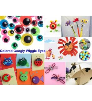 100pcs 10mm Googly Eyes Self Adhesive Google Wiggly Eye Craft Peel Sticks
