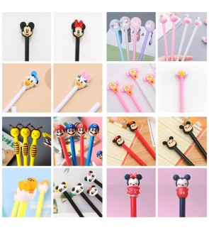 [Ready Stock] (Random 1 Piece) School Office Stationery Gift Party Cute Kid Pink 3D BallPoint Pen