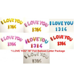16 Inch I LOVE YOU 1314 Aluminium Foil Balloon Wall Party Decoration Supplies