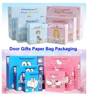 [Ready Stock] Kawaii Colorful Printed Design Door Gift Paper Bag Birthday Party