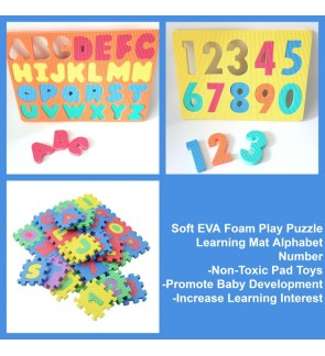 [Ready Stock] EVA Educational Puzzle Foam Mat Interlocking Alphabet & Number